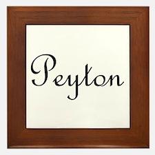 Peyton.png Framed Tile