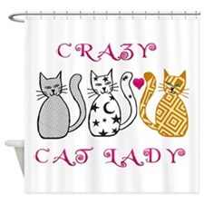 Crazy Cat Lady Shower Curtain
