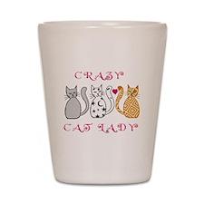 Crazy Cat Lady Shot Glass