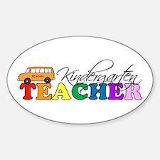 Kindergarten Teacher Oval Decal
