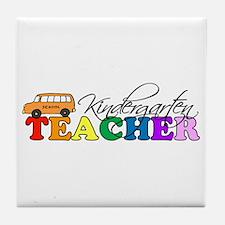 Kindergarten Teacher Tile Coaster