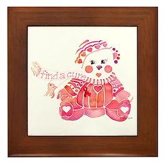 Breast Cancer Awareness Bear Framed Tile