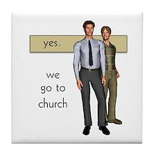Gay Christian Tile Coaster