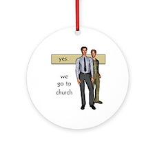 Gay Christian Ornament (Round)
