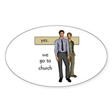 Gay Christian Oval Decal