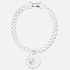 Edwardian Script-E Red.png Bracelet