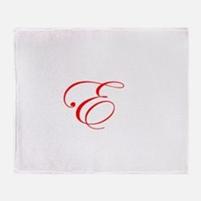 Edwardian Script-E Red.png Throw Blanket