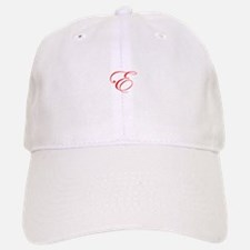Edwardian Script-E Red.png Baseball Baseball Cap