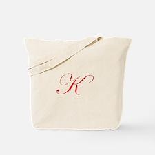 Edwardian Script-K Red.png Tote Bag