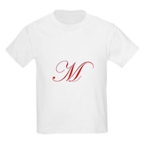 Edwardian Script-M Red.png Kids Light T-Shirt