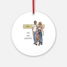 Lesbian Family Values Ornament (Round)