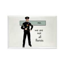 Gay Cop Rectangle Magnet