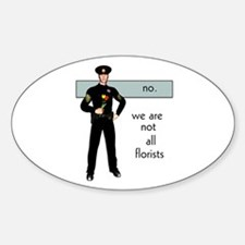 Gay Cop Oval Decal