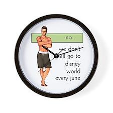 Gay Disney World Wall Clock