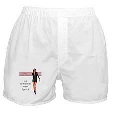 Lipstick/Femme Lesbian Boxer Shorts