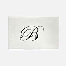 Edwardian Script-B.png Rectangle Magnet