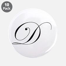 """Edwardian Script-D.png 3.5"""" Button (10 pack)"""