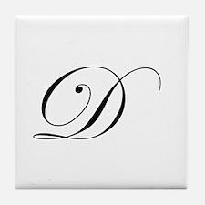 Edwardian Script-D.png Tile Coaster