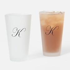 Edwardian Script-K.png Drinking Glass