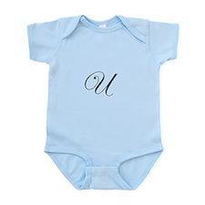 Edwardian Script-U.png Infant Bodysuit