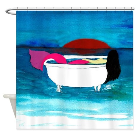 bath tub mermaid shower curtain by bythebeach buy hookless shower curtains from bed bath amp beyond