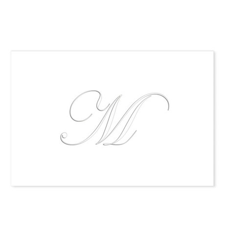 Edwardian Script-M White.png Postcards (Package of