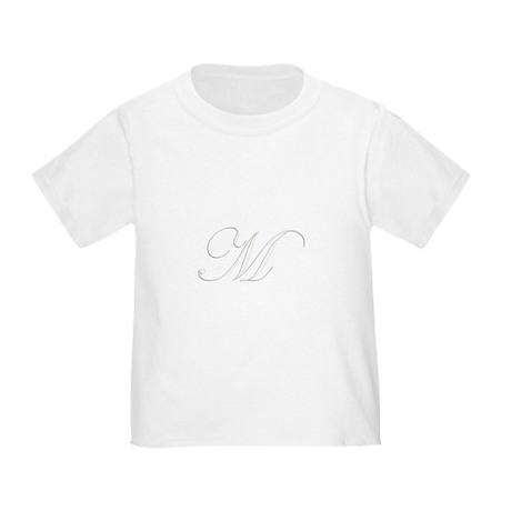 Edwardian Script-M White.png Toddler T-Shirt