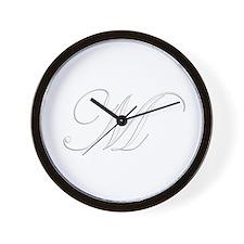 Edwardian Script-M White.png Wall Clock