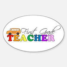 First Grade Teacher Oval Decal