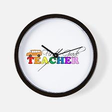 First Grade Teacher Wall Clock