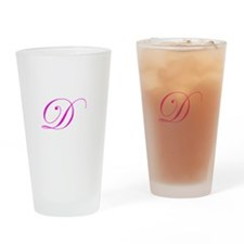 Edwardian Script-D Pink.png Drinking Glass