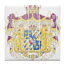 Sweden Coat Of Arms Tile Coaster