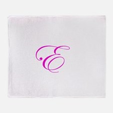 Edwardian Script-E Pink.png Throw Blanket