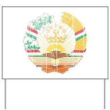 Tajikistan Coat Of Arms Yard Sign
