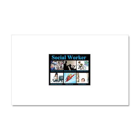 Social-Work-Funny.jpg Car Magnet 20 x 12