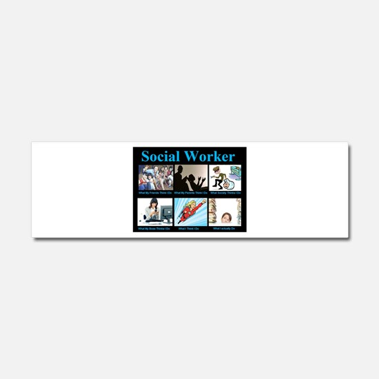 Social-Work-Funny.jpg Car Magnet 10 x 3