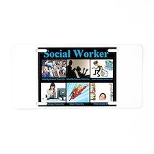 Social-Work-Funny.jpg Aluminum License Plate