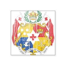 "Tonga Coat Of Arms Square Sticker 3"" x 3"""