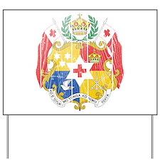 Tonga Coat Of Arms Yard Sign