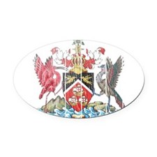 Trinidadand Tobago Coat of Arms wood.png Oval Car