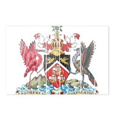 Trinidadand Tobago Coat of Arms wood.png Postcards