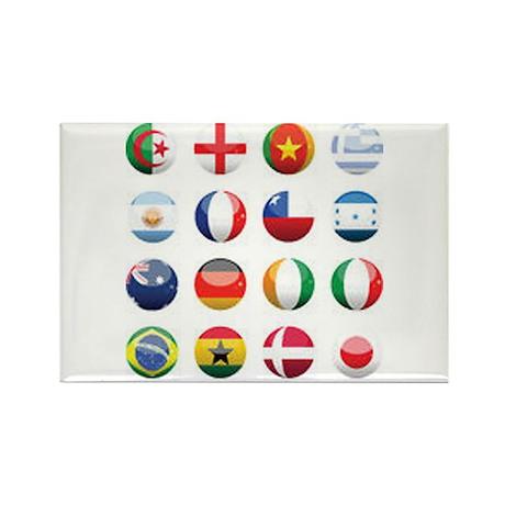 World Cup Soccer Balls Rectangle Magnet