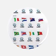 """Soccer Balls And Flags 3.5"""" Button (100 pack)"""