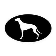 Greyhound Oval Car Magnet