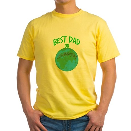 Best Dad On Earth Yellow T-Shirt