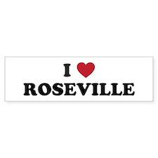 I Love Roseville Bumper Sticker