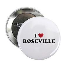 """I Love Roseville 2.25"""" Button"""