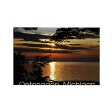 Ontonagon, Michigan Sunset Rectangle Magnet