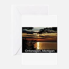 Ontonagon, Michigan Sunset Greeting Card