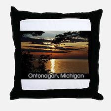 Ontonagon, Michigan Sunset Throw Pillow